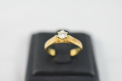 AU795 • Buy Ring Ladies 18ct Yellow Gold Diamond Solitaire Engagement Dress Ring