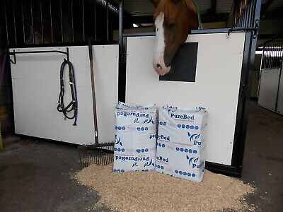£7 • Buy PureBed 20kg (approx) Dust Free Woodchip Shavings Horse Animal Bedding