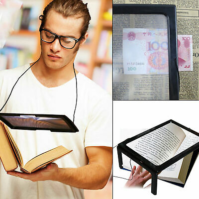 Giant Large Hands Free Magnifying Glass With Light LED Magnifier For Reading Aid • 14.99£