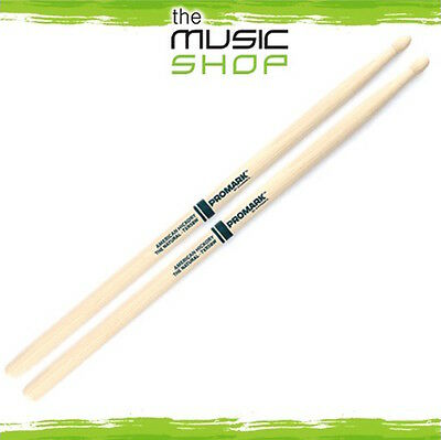 AU26.95 • Buy New Set Of Promark Hickory 5B 'The Natural' Drumsticks With Wood Tips - TXR5BW