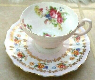 £14 • Buy Pink Floral Bone China Cup And Saucer, Foley Grosvenor