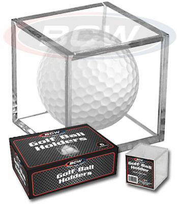 New (3 PK) BCW Golf Ball Display Cube Square Stackable Holder Auto Autograph • 5.53£