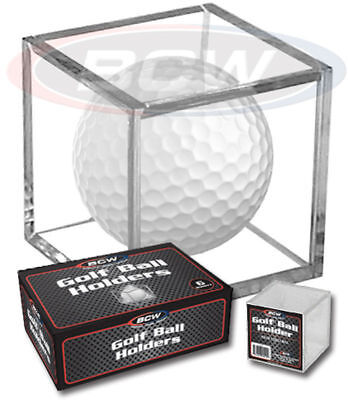 New (6 PK) BCW Golf Ball Display Cube Square Stackable Holder Auto Autograph • 7.80£