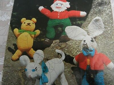 £1.75 • Buy Knitting Pattern Knitted Toys Lamb Teddy Hare And Gnome DK Vintage
