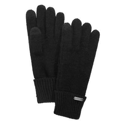 $11.99 • Buy Steve Madden Black Phone And Computer Winter Gloves Solid Black Touch Gloves