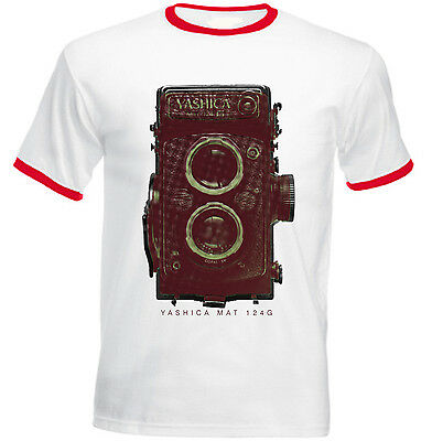 Yashica Mat 124g - New Red Ringer Cotton Tshirt • 16.99£