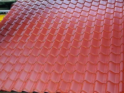 £3.81 • Buy TILE EFFECT TERRACOTTA PVC COATED .7 Summer House Roof, Garden Shed Roof
