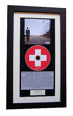 EMINEM Recovery CLASSIC CD Album GALLERY QUALITY FRAMED+EXPRESS GLOBAL SHIPPING • 44.95£