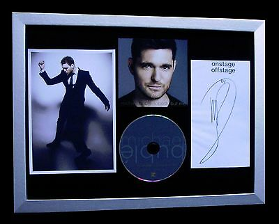 £169.95 • Buy Michael Buble+signed+framed+nobody+everything=100% Authentic+fast Global Ship!!