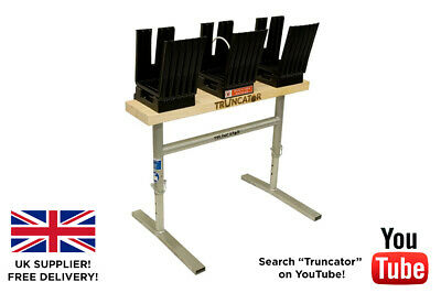 £85 • Buy Saw Horse Truncator 3 Cup Log Holder Wood Table Bench For Chain Saw Metal