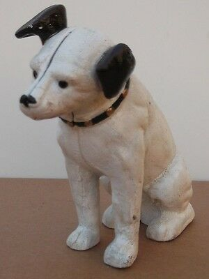 Fantastic  Model Of The HMV `Nipper`Dog STATUE Money Box Terrier Jack Russel • 16.75£