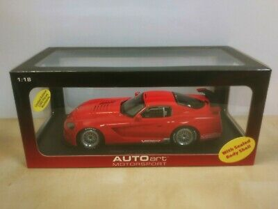 $ CDN169 • Buy AUTOart Dodge Viper Competition Car Plain Body Ver. Red New Limited Edition 1:18