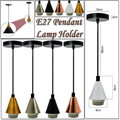 Vintage Ceiling Rose Pendant Lamp Holder Fitting Light Kit With PVC Cable • 9.99£