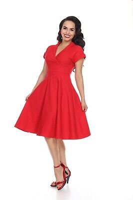Bettie Page Meet Me At The Watercooler Dress - Red • 33.71£