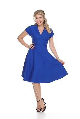 Bettie Page Meet Me At The Watercooler Dress - Royal Blue • 33.71£