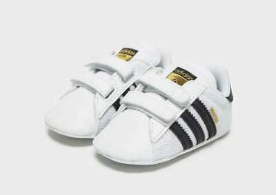 new product a34e7 6725c New Adidas Toddler Baby Infant Unisex Superstar Crib Shoes White Original •  42.00