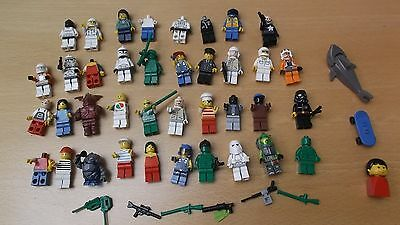 Lego Mini Figures Job Lot Shark Skateboard + Extras  • 44.99£