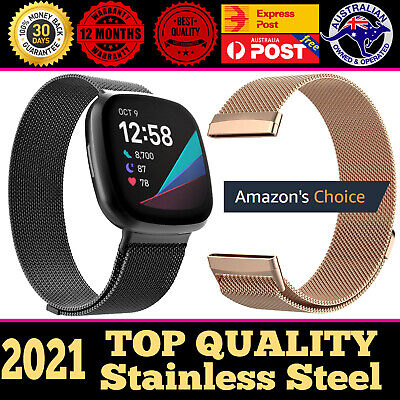 AU12.90 • Buy For Fitbit Versa Milanese Watch Band Strap Wrist Magnetic Stainless Steel Loop