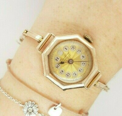 Antique 1920s Gold Windup Watch Dunklings Melbourne Swiss Made 9ct Gold Preloved • 620.41£