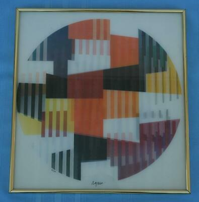 $1750 • Buy Early Yaacov Agam Signed Lenticular Agamograph Numbered 52/99