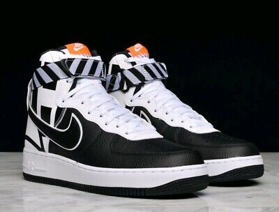 hot sale online e087a 5c601 Nike Air Force 1 High 07 Lv8 Force Logo Shoes Size 10 Black white 806403
