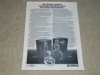 AU9.77 • Buy Yamaha Speaker Ad, 1976, NS-1000m, NS-690II, Article, 1 Page, RARE