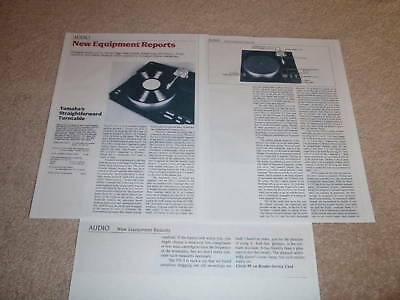AU11.31 • Buy Yamaha PX-3 Turntable Review, 1982, 3 Pgs, FULL TEST, RARE