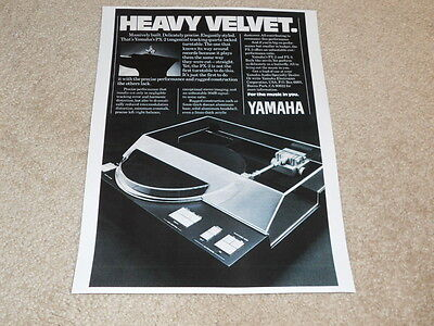 AU9.91 • Buy Yamaha PX-2, PX-3 Turntable Ad, 1980, 1 Pg, Article