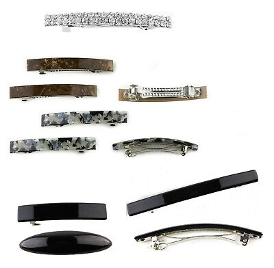 Small Barrette Hair Clips Slide Auto Clip French Hair Clasp Rectangle Buckle • 3.95£