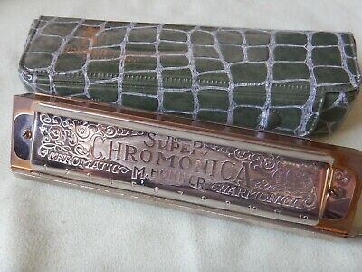 $55 • Buy M Hohner SUPER CHROMONICA 270 Harmonica In Key Of  C  Made In Germany With Case