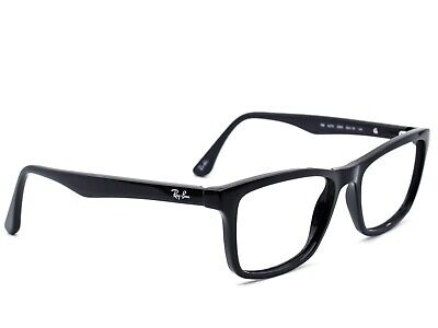 b00b06cba3 Ray Ban Eyeglasses RB 5279 2000 Oversized Black Rectangular Frame 55  18  145 •