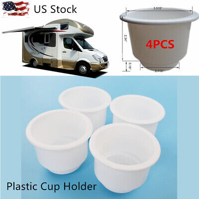 $8.08 • Buy 4 PCS White Boat Plastic Cup Drink Can Holder Boat Marine RV Bottle Holder Stand