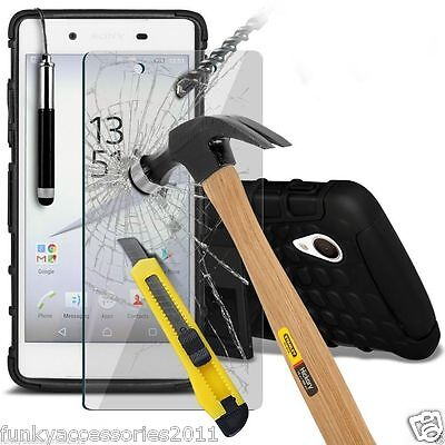 AU8.78 • Buy Shockproof Heavy Duty Double Layer Phone Case✔Glass Screen Protector For Sony