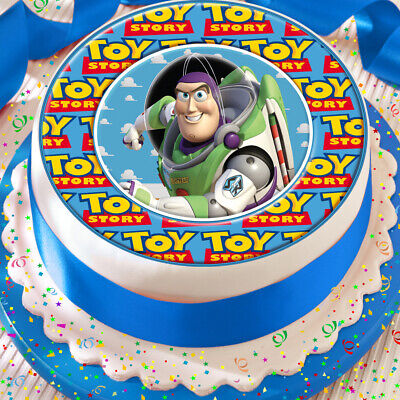 Toy Story Buzz Light Year 7.5 Inch Precut Edible Cake Topper Decoration • 4.59£