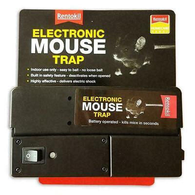 Rentokil Electronic Mouse Trap, Battery Powered, Indoor Use, Easy To Use & Clean • 22.47£