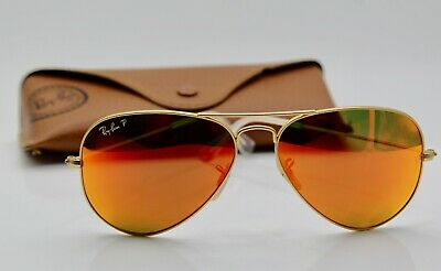 399d8b2bf1 Ray-Ban RB3025 112 4D AVIATOR FLASH LENSES Gold  Polarized Orange Flash 58mm
