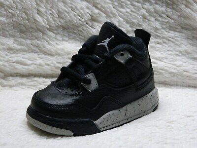 best sneakers 9bf51 e3357 Nike Air Jordan 4 IV Oreo Retro Toddler Boys Size 5C Black Grey Cement FREE  S H