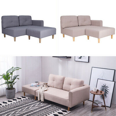 Fabric Corner Sofa Settee Left Right Hand Small Family House Living Room Chair • 249.95£