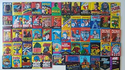 £3.50 • Buy Topps Movie Wax Gum Packs & Trading Cards - Retro 70's 80's 90's Films OVER 80+