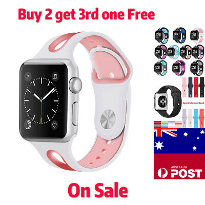 AU12.99 • Buy Silicone Band Bracelet Strap Band Apple Watch IWatch Series 5/ 4/3/2/1 38/42mm