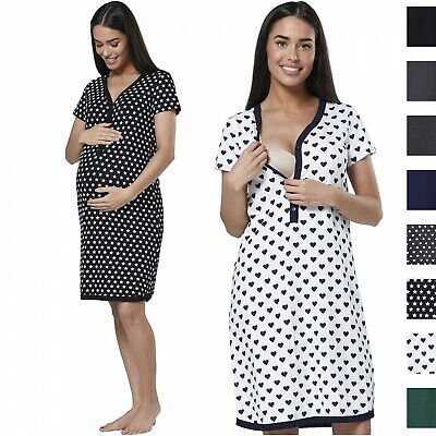 £21.99 • Buy HAPPY MAMA Women's Maternity Nursing Hospital Gown Buttoned Nightshirt 559