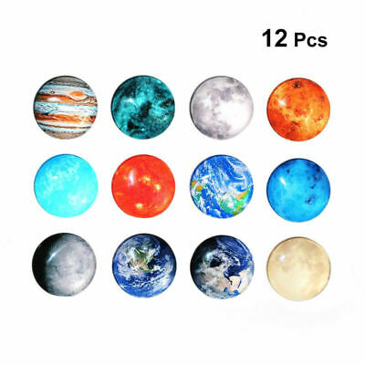AU13.64 • Buy 12pcs Refrigerator Magnets Decorative Glass Round Fridge Magnets For Office Home