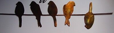 Birds On A Wire  Metal Wall Decor 30  • 26.18£