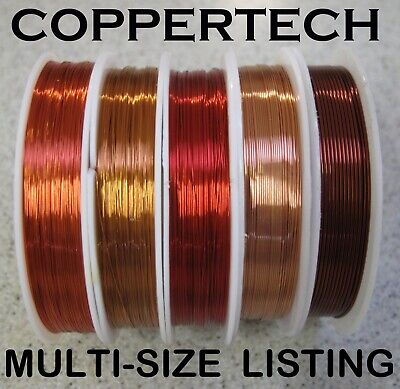 AU9.50 • Buy COPPER Beading Wire For Jewellery, Craft  0.1 - 3 Mm Huge Range, Generous Length