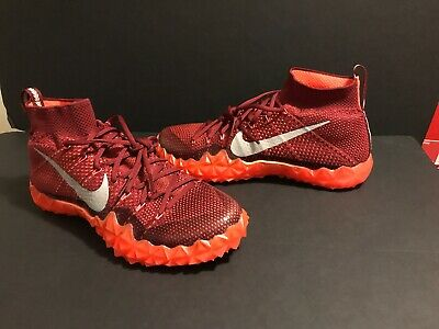 on sale 16163 7c462 Nike Alpha Sensory Turf Lax Men s Size 11 Crimson Football Shoes 854312-806  New •