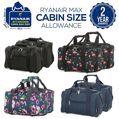 £14.99 • Buy Set Of 2 New 2019 Ryanair 40x20x25 Maximum Sized Cabin Carry On Holdall Bags