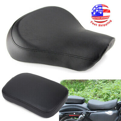 $107.95 • Buy Black Front Driver Solo Seat For Harley Sportster Iron XL 1200 883 72 48 1983-03