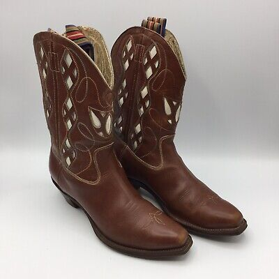 7ede20b4b72 ROCKABILLY Vintage 50's 60's COWBOY Ranch RODEO Western BOOTS W CUT-OUTS •  59.99