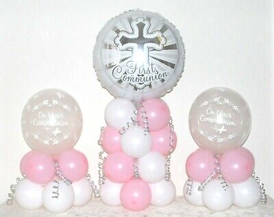 Holy Communion GIRL  - Table Balloon Decoration Display Kit - No Helium Needed • 4.99£