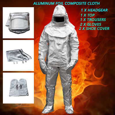 Thermal Radiation 1000 Degree Heat Resistant Aluminized Suit Fireproof Clothes • 154.66$